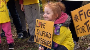 children with protest signs