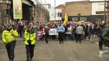 Thousands of people attended the marches in Birmingham today