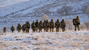 Colchester soldiers in winter training