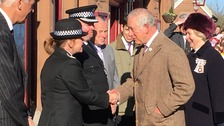 Prince Charles arriving at Langwathby