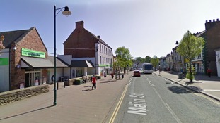 Egremont's Main Street outside the Co-Op store