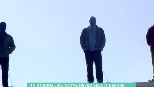 Statues on top of ITV Studios