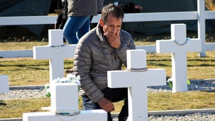 Argentine families visit graves of newly identified Falklands War fallen