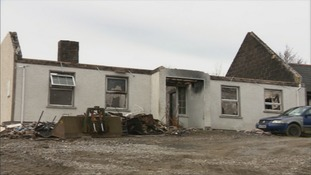 The fire last month started at a remote cottage near Derrylin