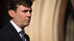 Andy Burnham at a vigil for the victims
