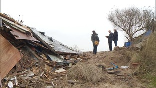 Family meet with insurers after chalet is demolished