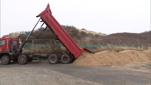 100 lorry loads of sand from Great Yarmouth will help reinstate the access road to the beach