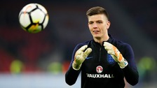 Nick Pope has been called up to the England squad.