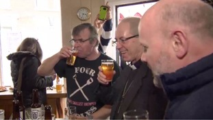 Archbishop enjoys a tipple and helps to launch a real ale