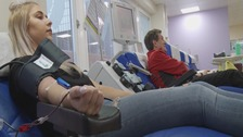 Donors giving their blood