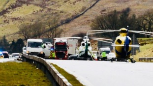 Woman dies in eight-vehicle crash on the M6