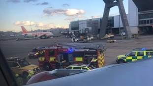 Aircraft evacuated at Gatwick Airport after ground worker injured