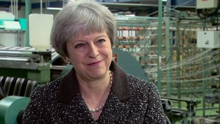 Theresa May's first visit on Thursday was to a weaving firm in Ayr.