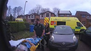 Paramedics outside the house