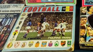 A vintage Panini sticker album for the 1972/73 football season.