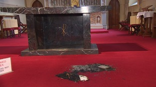 A Great Yarmouth church has been the victim of a suspected arson attack