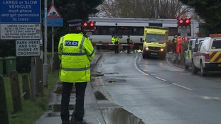 Police at the scene of the crash at Waterbeach