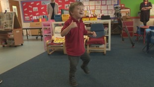 Felix's first steps: Little boy with rare condition defies the odds