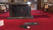 Remnants of the fire at St Mary's in Great Yarmouth