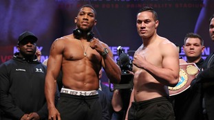 Anthony Joshua nearly a stone lighter ahead of showdown with Joseph Parker
