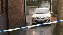 Police cordon in Long Horsley