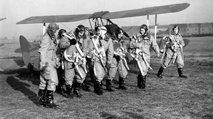 Air Transport Auxiliary women pilots in their flying kit during the Second World War.