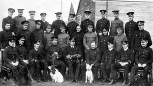 Central Flying School staff and pupils in 1912.