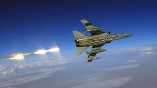 A Tornado F3 fires defensive flares in 2003.