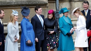 Many members of the royal family were at the Easter service.
