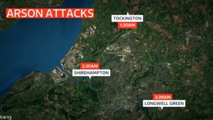 An investigation has been launched by the fire service in Bristol after they were called to three separate arson attacks in the early hours of 1st April.