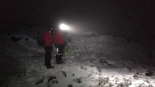 The rescue took place in freezing conditions