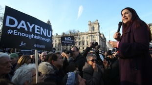 A protest was held outside Parliament against anti-Semitism.