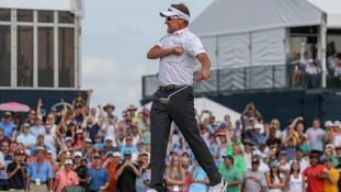 Ian Poulter books Masters place with dramatic play-off victory at the Houston Open