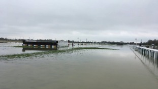 The flooding at Huntingdon racecourse earlier this weekend