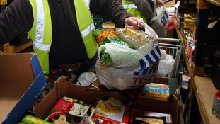 Families are looking to food banks for help.