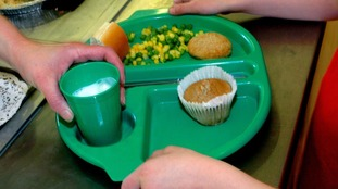Pupils putting food in their pockets to take home because they're not sure if they're going to get another meal'.