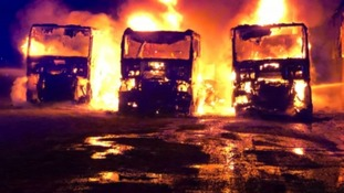 Three lorries burnt out in haulage depot fire