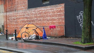homeless person's tent