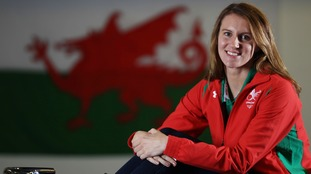 Jazz Carlin of the Wales Swimming Commonwealth team