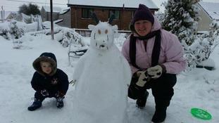A 'snow gruffalo'
