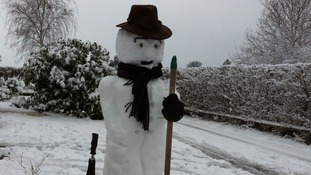 A snowman in Monmouth