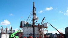 Work on creating the first well at a controversial Lancashire fracking site has been completed