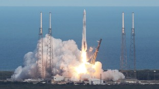 The satellite took off on board a rocket on Monday evening - it is due to arrive at the International Space Station on Wednesday morning.