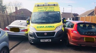 Badly parked cars delay ambulance responding to emergency
