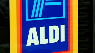 An Aldi store was targeted.