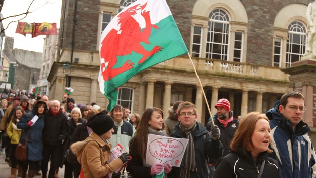 The rally in Carmarthen