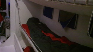 One of the beds the participants will be sleeping in for almost a year