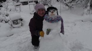 A snowman in Fleur de Lis
