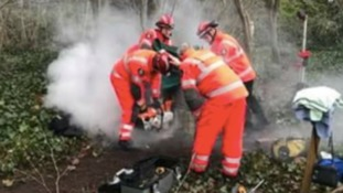 Child is rescued by firefighters after getting stuck inside National Trust monument