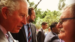 Prince Charles surprised by old school friend after landing in Australia for Commonwealth Games